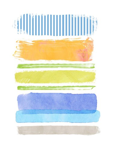 Beach Stripes No. 2 art print by Suzanne Nicoll for $58.75 CAD