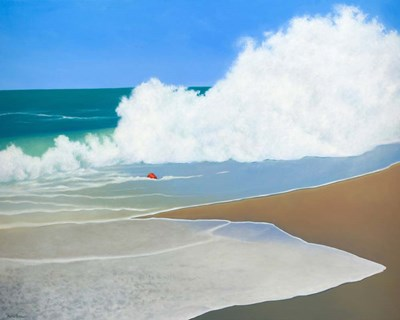 Red Pail in the Sand art print by Martha Pettigrew for $56.25 CAD