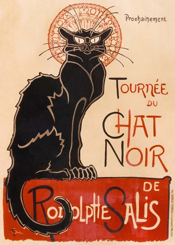 Chat Noir art print by Theophile-Alexandre Steinlen for $55.00 CAD