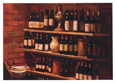 Wine Cellar art print by Pam Ingalls-Cox for $50.00 CAD