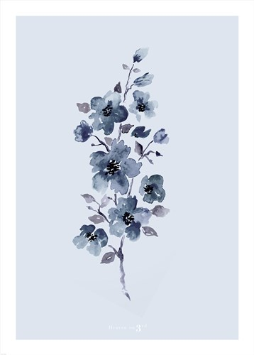 Floral Blue art print by Heaven on 3rd for $42.50 CAD