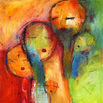 Abstract Faces 1 art print by Claudia for $80.00 CAD