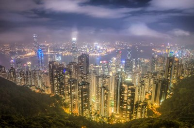 View from The Peak Hong Kong art print by Nick Jackson for $43.75 CAD