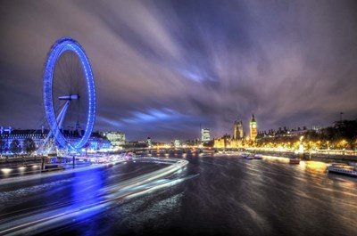 Light Trails Up The Thames art print by Nick Jackson for $43.75 CAD