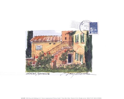 Provence Garden art print by Gary Max Collins for $12.50 CAD