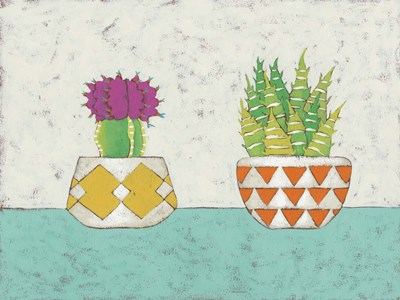 Succulent Duo II art print by Chariklia Zarris for $38.75 CAD