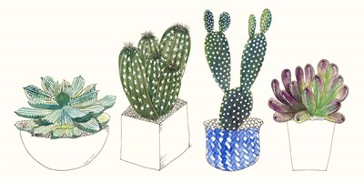 Four Succulents II art print by Melissa Wang for $50.00 CAD