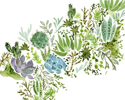 Succulent Field I art print by Melissa Wang for $53.75 CAD