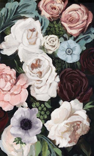 Floral Nocturne I art print by Victoria Borges for $93.75 CAD