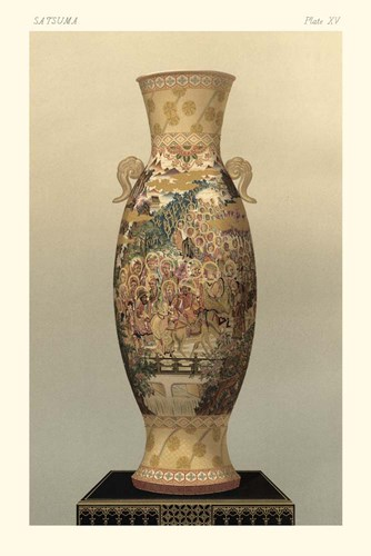 Satsuma Vase Pl. XV art print by George Audsley for $42.50 CAD