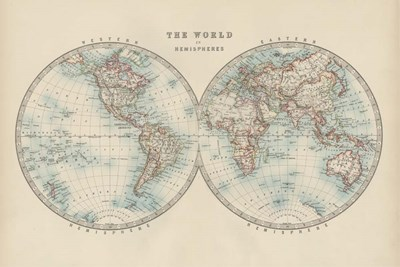 World in Hemispheres art print by Walt Johnston for $42.50 CAD