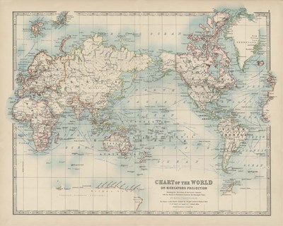 Chart of the World art print by Walt Johnston for $53.75 CAD