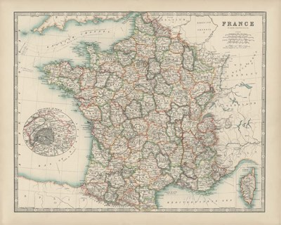 Map of France art print by Walt Johnston for $53.75 CAD