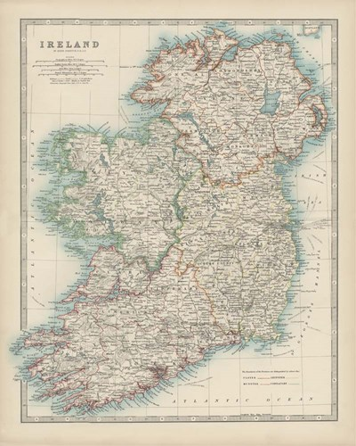Map of Ireland art print by Walt Johnston for $53.75 CAD