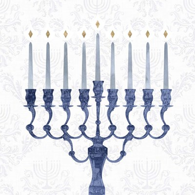 Sophisticated Hanukkah I art print by Victoria Borges for $32.50 CAD