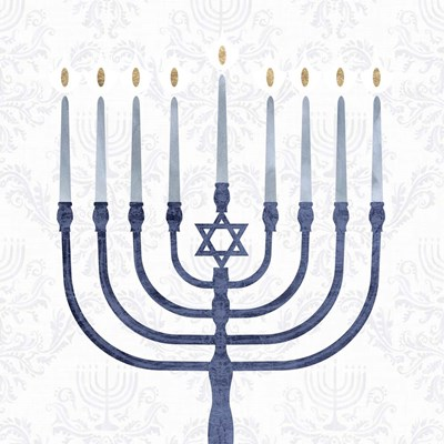 Sophisticated Hanukkah II art print by Victoria Borges for $32.50 CAD