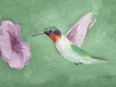 Fresco Hummingbird II art print by Alicia Ludwig for $38.75 CAD