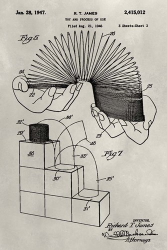 Patent--Slinky art print by Alicia Ludwig for $42.50 CAD