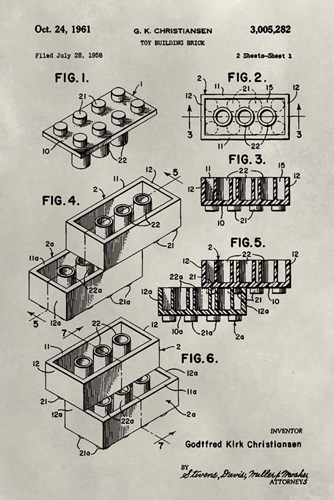 Patent--Lego art print by Alicia Ludwig for $42.50 CAD