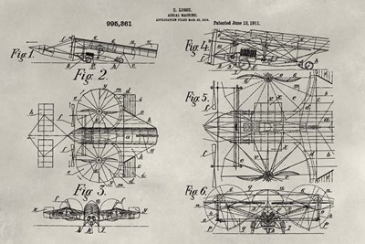 Patent--Aerial Machine art print by Alicia Ludwig for $42.50 CAD