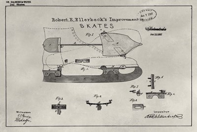 Patent--Skate art print by Alicia Ludwig for $42.50 CAD