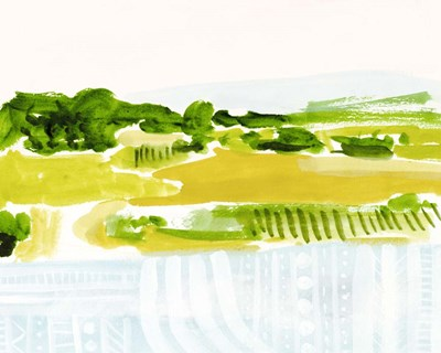 Patterned Landscape II art print by Victoria Borges for $53.75 CAD
