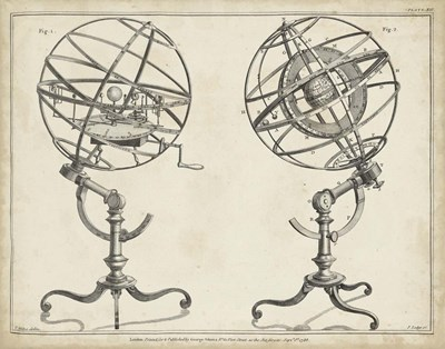 Antique Armillary Spheres art print by George Adams for $78.75 CAD