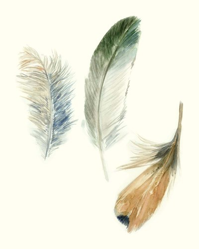 Watercolor Feathers II art print by Megan Meagher for $53.75 CAD