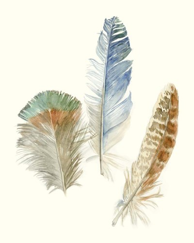 Watercolor Feathers III art print by Megan Meagher for $53.75 CAD