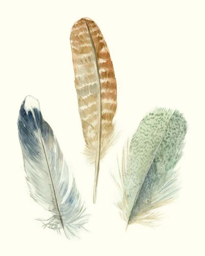 Watercolor Feathers IV art print by Megan Meagher for $53.75 CAD