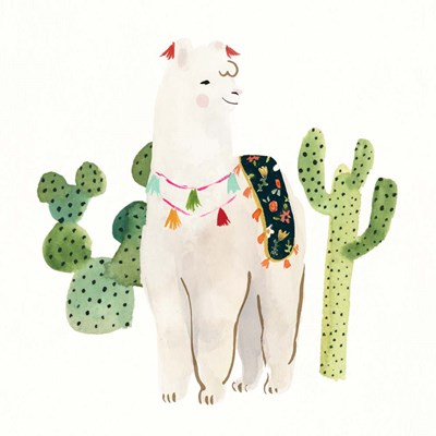 Sweet Alpaca I art print by Victoria Borges for $32.50 CAD