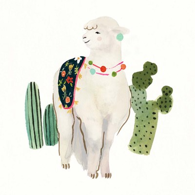 Sweet Alpaca II art print by Victoria Borges for $32.50 CAD