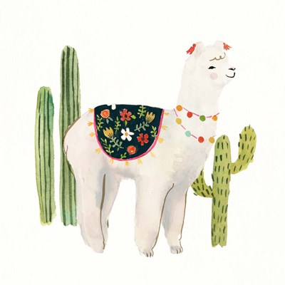 Sweet Alpaca III art print by Victoria Borges for $32.50 CAD