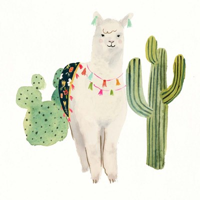 Sweet Alpaca IV art print by Victoria Borges for $32.50 CAD