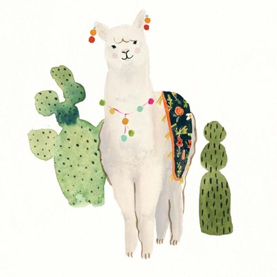 Sweet Alpaca V art print by Victoria Borges for $32.50 CAD