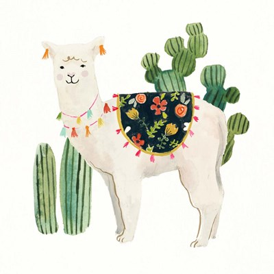 Sweet Alpaca VI art print by Victoria Borges for $32.50 CAD