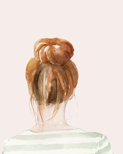 Top Knot Sailor Stripes II art print by Jennifer Parker for $53.75 CAD