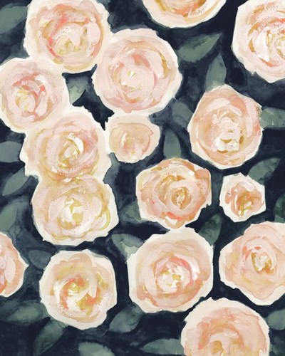 Peach Petals I art print by Victoria Borges for $53.75 CAD