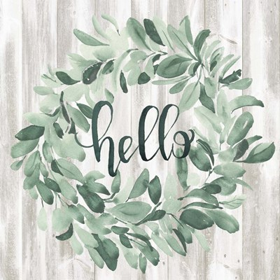 Welcome Wreath I art print by Jennifer Parker for $32.50 CAD