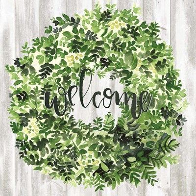 Welcome Wreath II art print by Jennifer Parker for $32.50 CAD