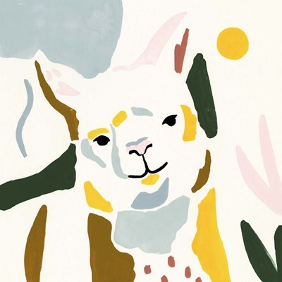 Llama Moderne II art print by Victoria Borges for $53.75 CAD