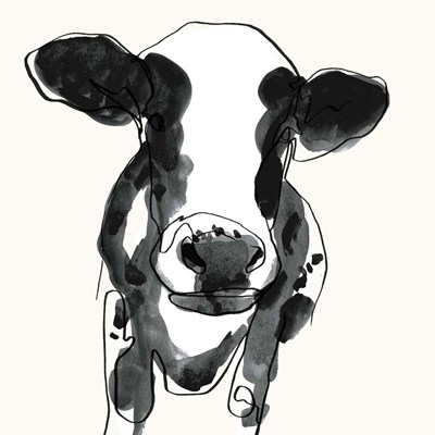 Cow Contour II art print by Victoria Borges for $53.75 CAD