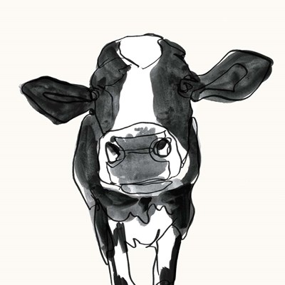Cow Contour III art print by Victoria Borges for $53.75 CAD