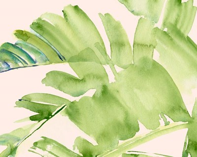 Peachy Palms II art print by Jennifer Parker for $53.75 CAD