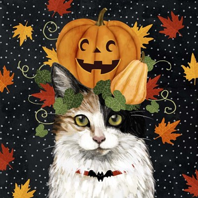 Halloween Cat II art print by Victoria Borges for $32.50 CAD