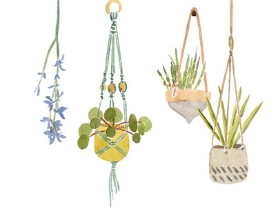 Hanging Greens IV art print by Melissa Wang for $111.25 CAD