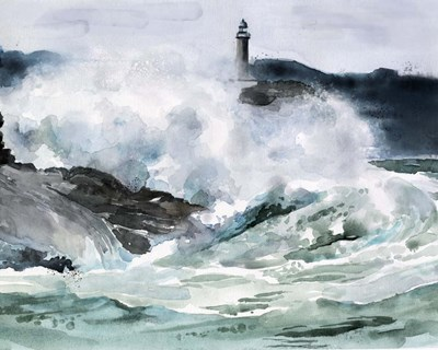 Lighthouse Waves II art print by Jennifer Parker for $53.75 CAD