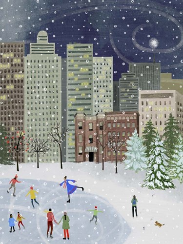 Christmas in the City II art print by Grace Popp for $38.75 CAD