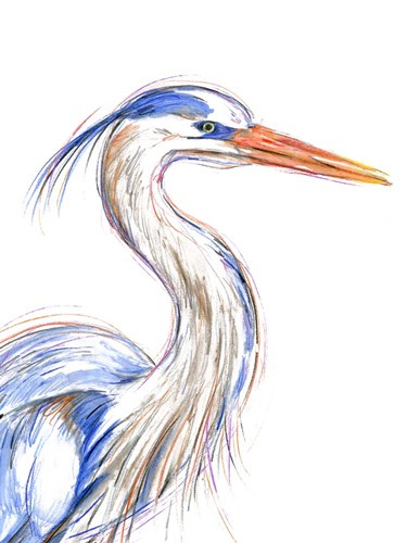 Heron's Glance I art print by Annie Warren for $38.75 CAD