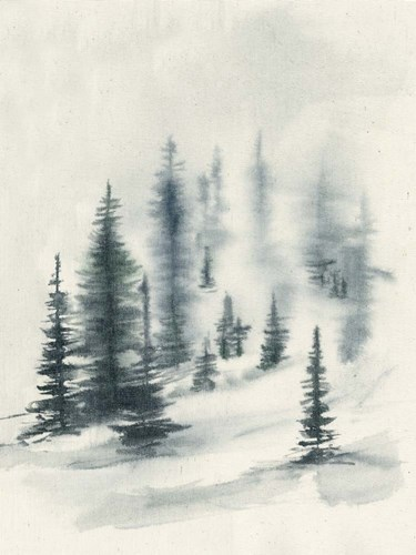 Misty Winter II art print by Jennifer Goldberger for $63.75 CAD